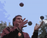 A photo of Mathias juggling 3 balls